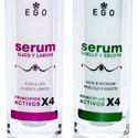 Diseño de packaging SERUMS de Ego en Pamplona