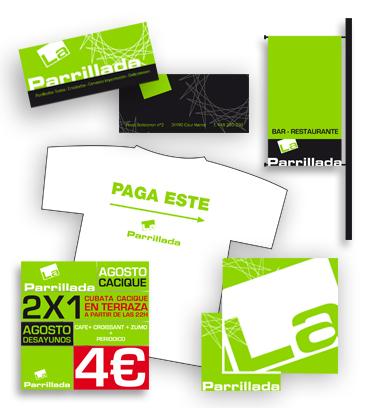 Dise o logotipo imagen corporativa la parrillada for Diseno imagen corporativa